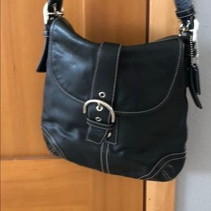Genuine leather coach bag